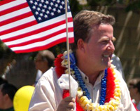 Gary Hooser at the Kailua 4th of July parade, 2009